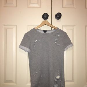 Rue 21 grey top XS